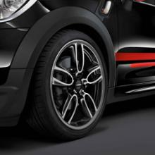 "Llanta JCW Double Spoke R129 19"" - Negro brillo y Exterior pulido"