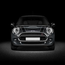 Bonnet Stripe MINI - Negro / Blanco - F55/F56 F57