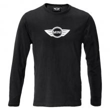 Camiseta de Hombre MINI Larga Logo Wings Negra